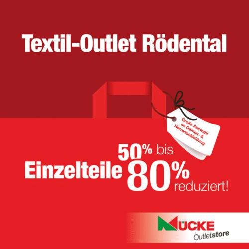 Mücke Textil Outlet in Rödental - Einzelteile 50%-80% reduziert!