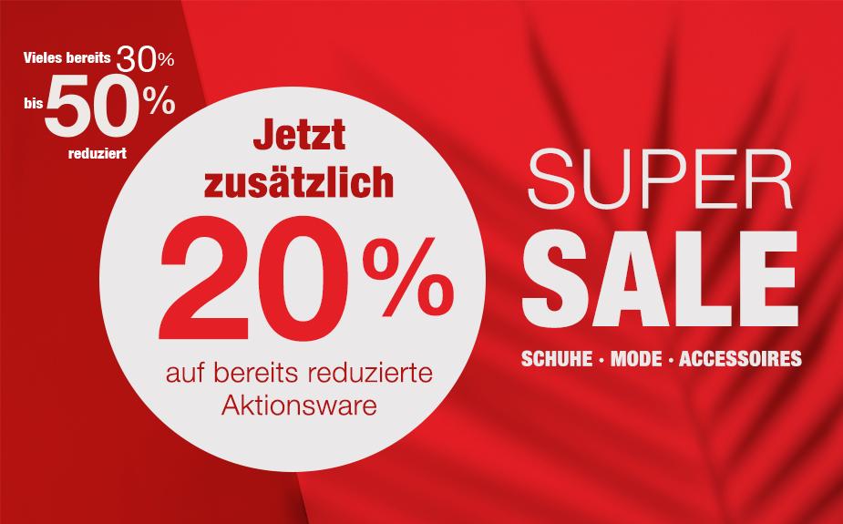 Super Sale bei Schuh Mücke - Jetzt zusätzlich 20% reduziert!